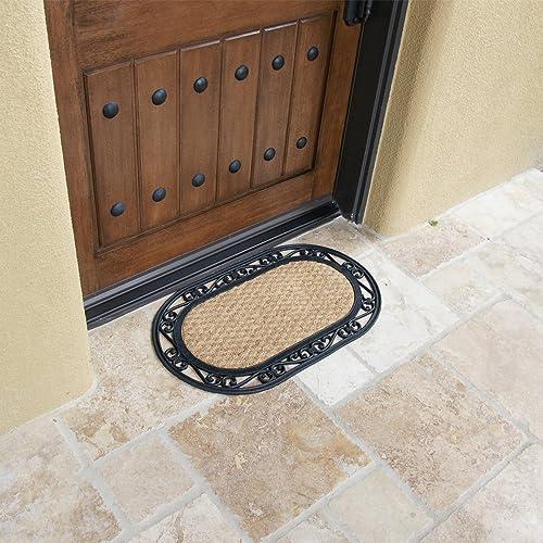 Rubber-Cal Alexandria Outdoor Coco Coir Decorative Rubber Doormat, 18 x 30-Inch