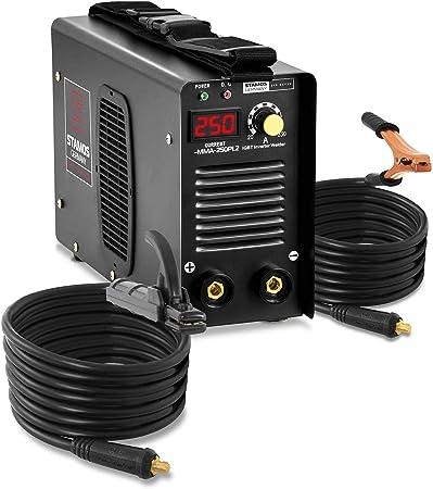 Stamos Germany S-MMA-200PI.2 Poste /à Souder /à lArc Poste a Souder Inverter MMA Soudage Soudure 200 A, 230 V, /Écran LED, Hot Start, IGBT