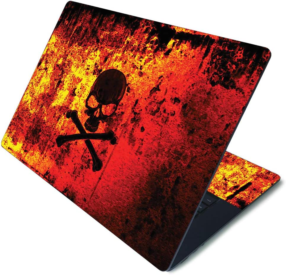 """MightySkins Skin for Microsoft Surface Laptop 3 15"""" - Bio Skull 