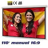 """Pantalla de proyeccion manual de 110"""" 16:9"""