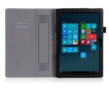 24090ce2b71 Galaxy TabPro S 12 Funda,ISIN Folio Funda Case Cover Carcasa con Stand  Función para Samsung ...