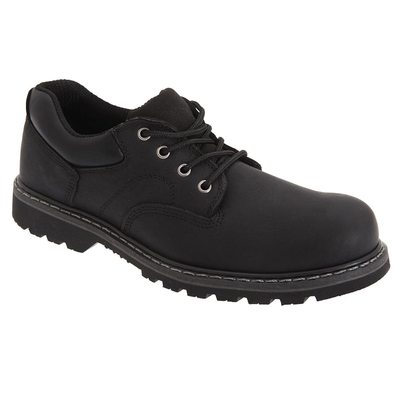 Woodland Mens Tumbled Leather Padded Utility Shoes
