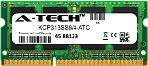A-Tech 4GB Replacement for Kingston KCP313SS8/4 - DDR3 1333MHz PC3-10600 Non ECC SO-DIMM 1rx8 1.5v - Single Laptop & Notebook Memory Ram Stick (KCP313SS8/4-ATC)