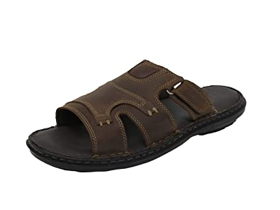 3a25e434c8e4 CDAAWA Genuine Leather Men s Sandals CD632 Olive  Buy Online at Low ...