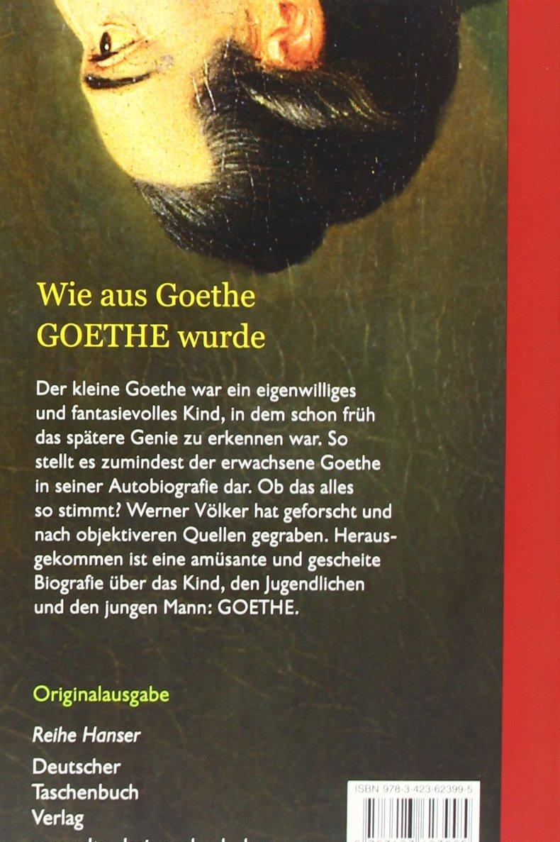 """Wohin Es Geht"""" Der Junge Goethe Reihe Hanser Amazon Werner"""