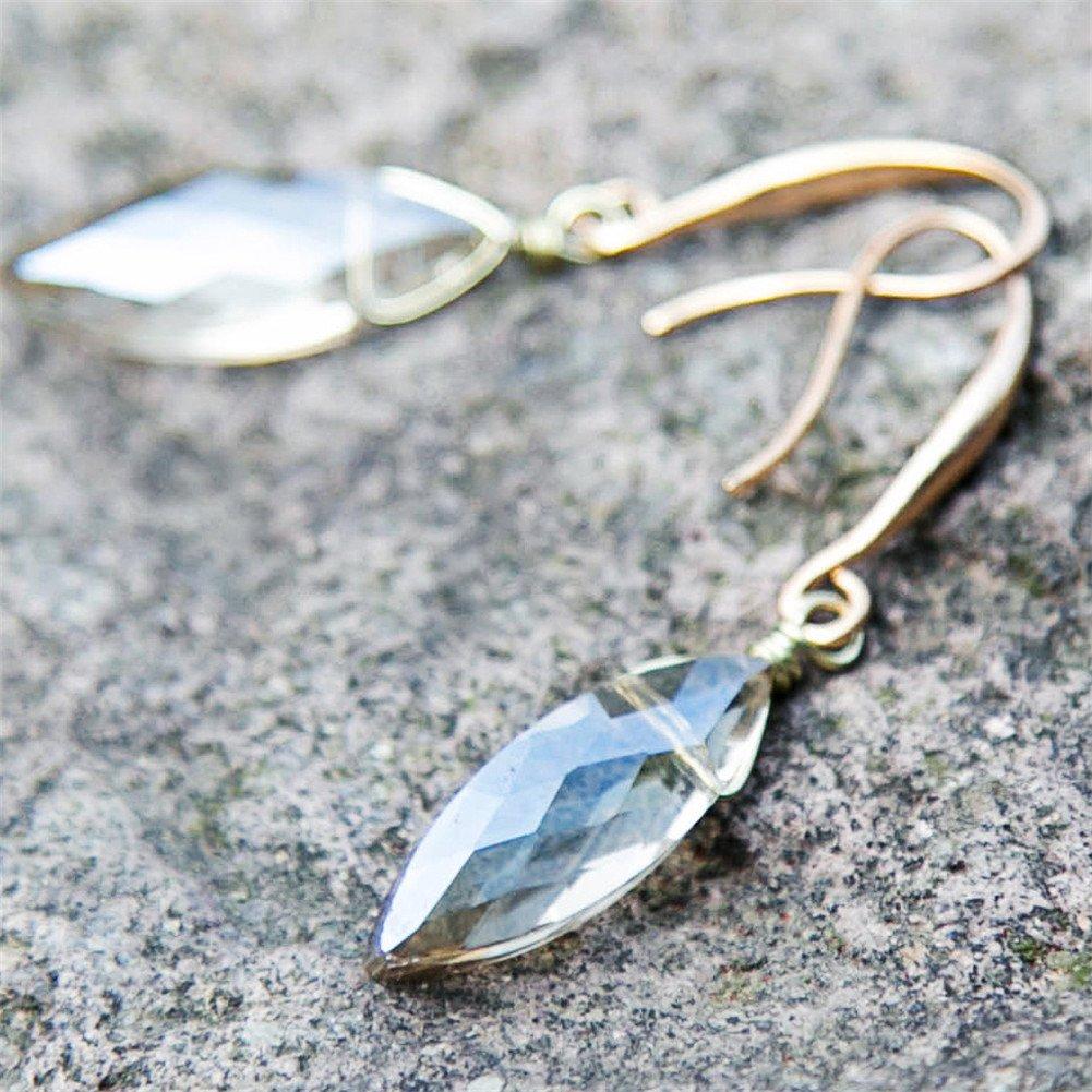 Bize Long Crystal Drop Earrings Dangle Earrings for Women Girl Mother Day Gift