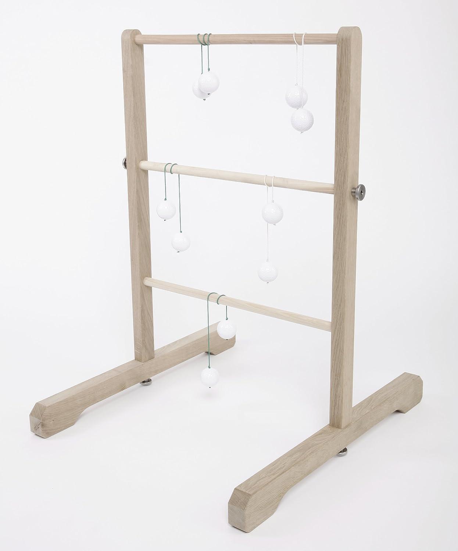 Leitergolf TURNUS, Wurfspiel in hochwertiger Ausführung aus robustem Eichenholz