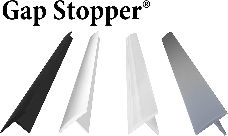 Original Gap Stopper Pure White, Professional Grade, FDA Heavy 7.2 oz Silicone, Set of 2, Covers Gap between Stove & Countertop, Pure White