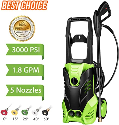 Homdox 3000 PSI Electric Pressure Washer, High Pressure Washer, Professional Washer Cleaner Machine 1800W