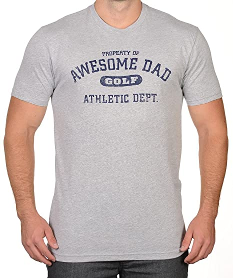 Awesome Dad Mens Golf Athletic Department T-Shirt S Sport Grey