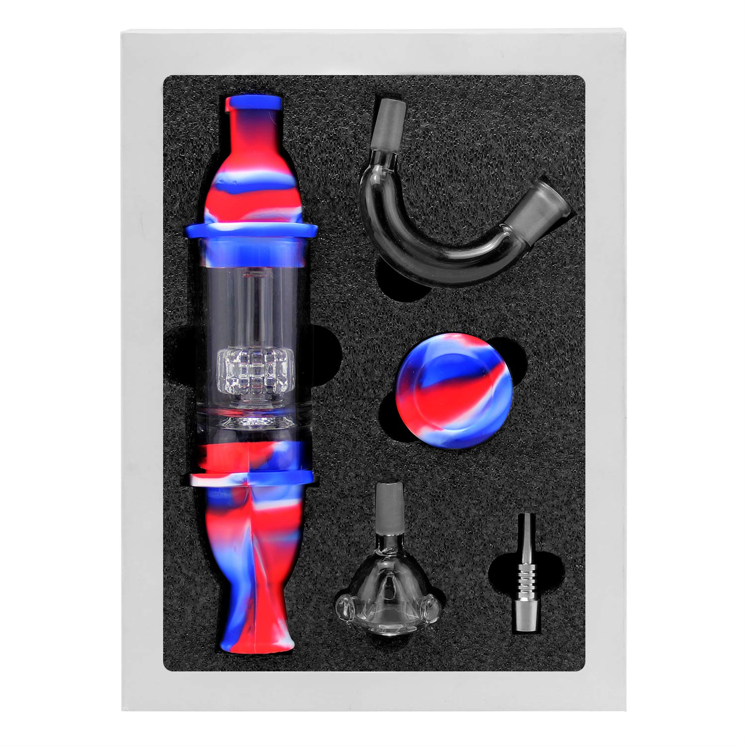 Reusable Silicone Honey Straw Water Filtering 8.3'' with Wax Carving Kit Gift Pack Red/Blue by Pilot Diary