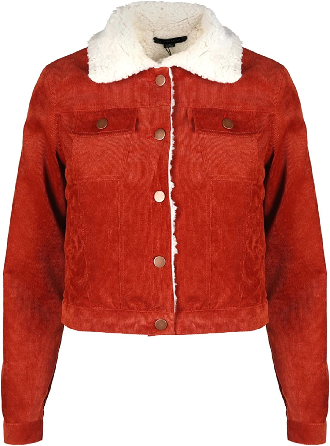 Gihuo Womens Vintage Long Sleeve Button Down Short Corduroy Jacket