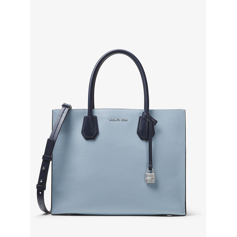 【MICHAEL KORS】マイケルコース 30S7GM9T3L-1765 Mercer Large Leather Tote Bag 2WAYバッグ BLUE [並行輸入品] B06XYBLZVV