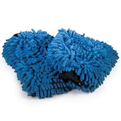 Cosey Esponja de Chenilla Paquete de 2 Azul//Naranja