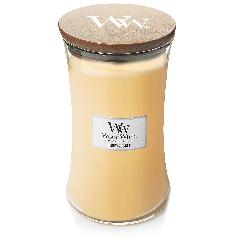 Woodwick Candle 22オンス – Honeysuckle B07H8HBRJD