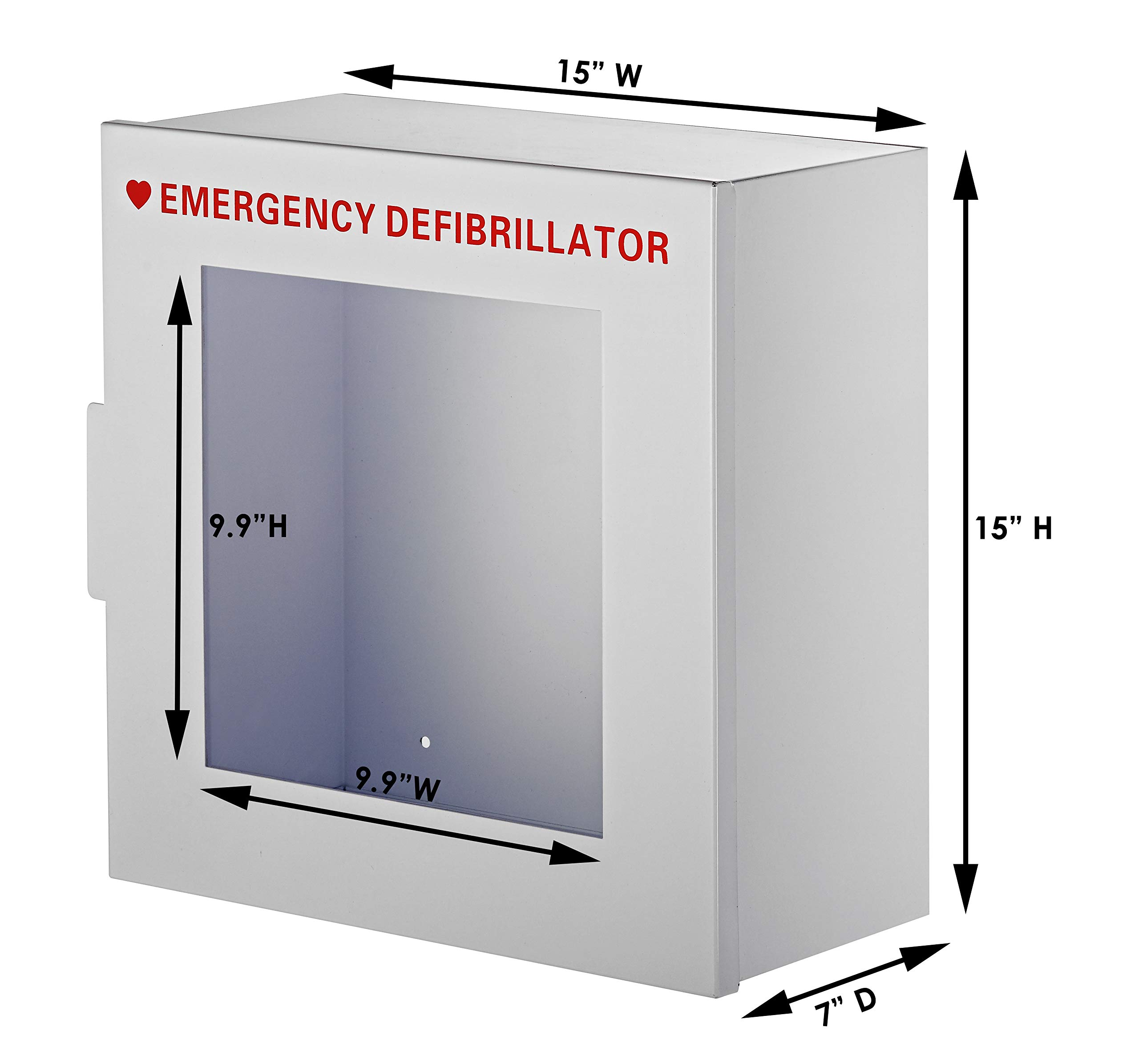 AdirMed Non-Alarmed Steel Cabinet Defibrillators 15'' W x 15'' H x 7'' - Standard Wall Mounted Enclosure - Easy Access Storage for Emergency Situation for Home & Office by AdirMed (Image #5)
