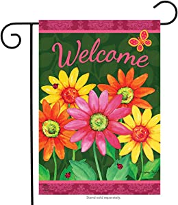 """Briarwood Lane Welcome Daisies Spring Garden Flag Floral 12.5"""" x 18"""""""