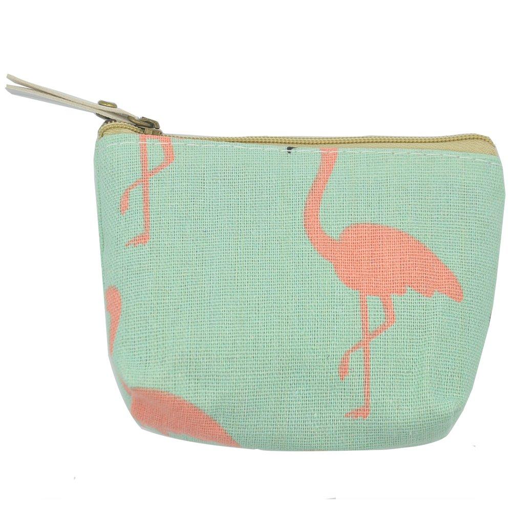 iSuperb Pack of 4 Canvas Coin Purse Change Cash Bag Zipper Small Purse Wallets
