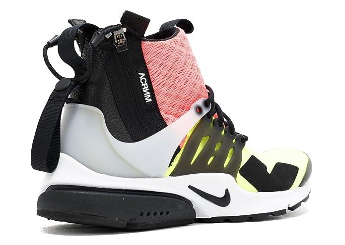 f048187ec Amazon.com | Nike Air Presto Mid Acronym Hot Lava 844672 100 | Basketball