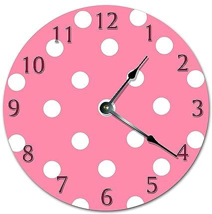 Amazon Com 12 Vintage White Polka Dots In Pink Background Design