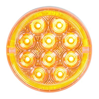 "GG Grand General 74886 Sealed Light (4"" Prime+ Amber/Clear 14 LED): Automotive"