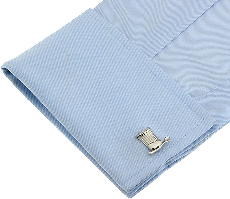 AnazoZ Gemelo Cobre Gemelos para Camisa Sombrero de Cocinero Gemelo Camisa Plata: Amazon.es: Joyería