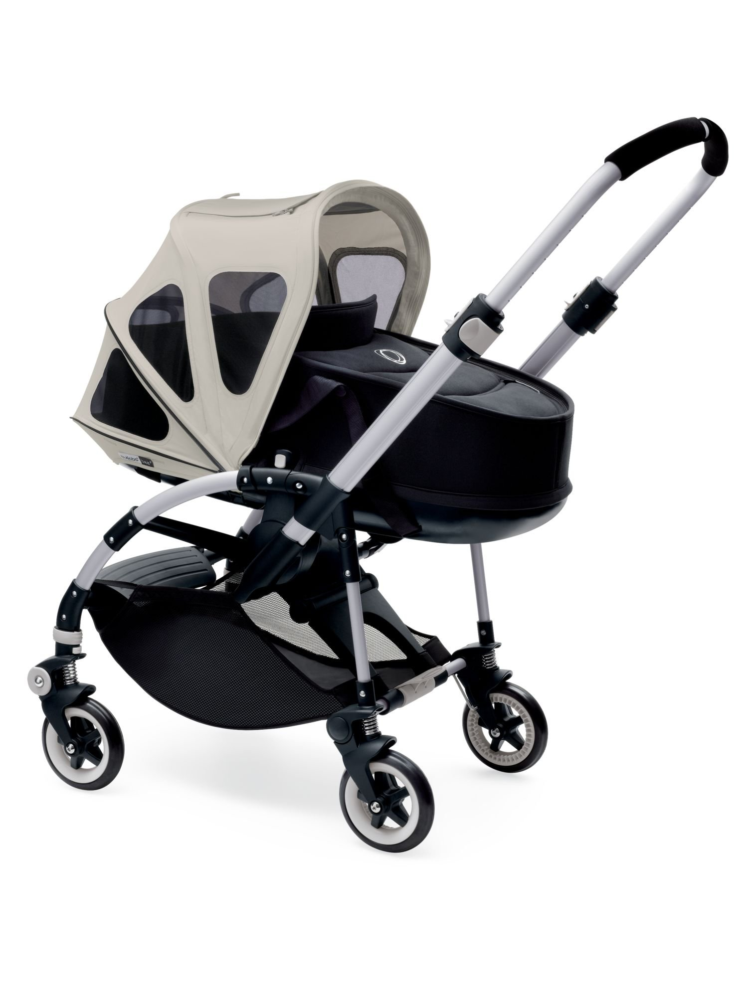 Bugaboo Bee Breezy Sun Canopy, Arctic Grey - Extendable Sun Canopy with UPF Sun Protection and Mesh Ventilation Panels by Bugaboo (Image #2)