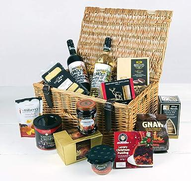 Best Christmas Gift Baskets.Luxury Food Hampers First Noel Gift Basket Perfect