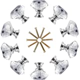 Crystal Knobs LESHP Cabinet Handles With Screw for Home Decorating (30mmX10pcs)