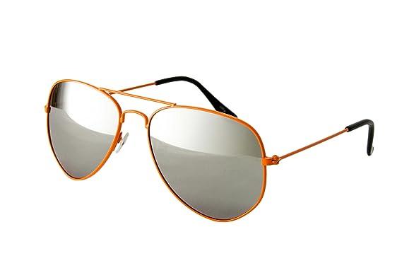 Damen Sonnenbrille Pilot Bunte Spiegel Mode Farbe Sonnenbrille Im Freien Sonnenbrillen,Orange