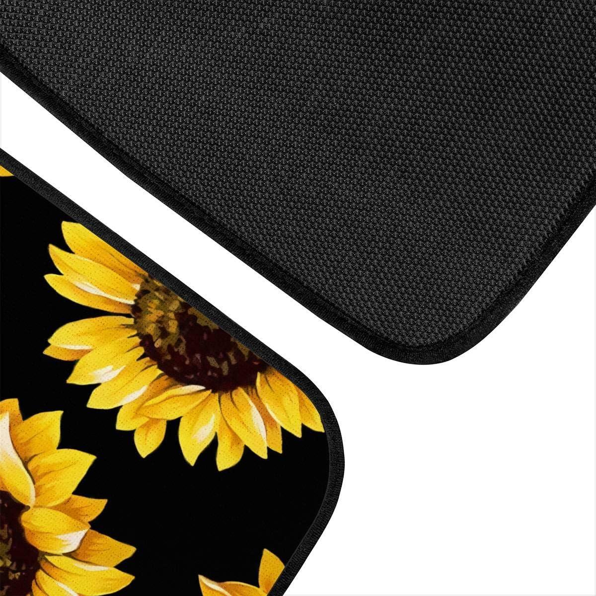 JoyLamoria Universal Fit Front//Rear Auto Floor Mats 4-Pcs Full Set Car Carpet Floor Mats Sunflower Print Carpet for Sedans Coupes SUV Truck