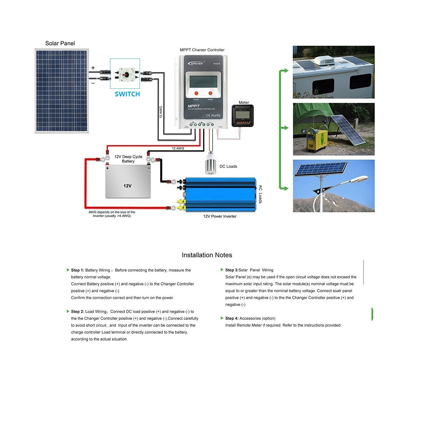 Enzpower Ip66 Solar System Combiner Box 32a Pv Dc Isolator Wiring Diagram Switch With Mc4 Connector For