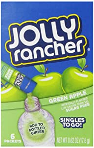 Jolly Rancher Singles To Go Powdered Drink Mix, Green Apple, 72 Total Servings, Sugar-Free Drink Powder, Just Add Water, 0.62 Ounce (Pack of 12)