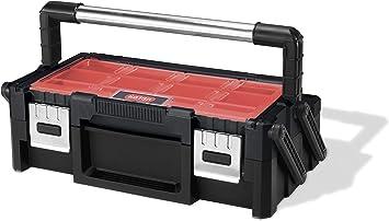 Keter Canti Organizer - Caja de herramientas, color negro y rojo ...