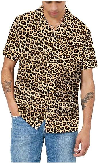 Camisa Hawaiana Para Hombre Camisas Corta Fibujos Hombre Ropa Estampada de Verano con Diseño de Hojas de Arce, Camiseta Casual de Manga Corta, NUTEXROL, Varios Estilos(Cada Estilo Tiene 6 Tallas) y Col: