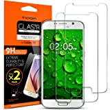 Galaxy S6 Screen Protector, Spigen® [Glass] Most Durable [GLAS.tR SLIM] (0.4mm) Rounded Edges Glass Screen Protector for Galaxy S6 - GLAS.tR SLIM (2Pack) (524GL20254)