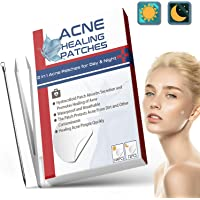 216 stks Acne Patches, Dag & Nacht Gebruik 2 in 1 Acne Absorberende Puistje Patches, Onzichtbare Effectieve…