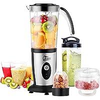 Smoothiemaker Uten Mixer Roestvrijstalen mixer/keukenrobot 5-in-1 multifunctionele blender, fruitpers, vleesmolen…