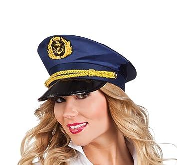62db6098611 Sailor Captain Hat Adult Fancy Dress Mens Ladies Costume Accessory