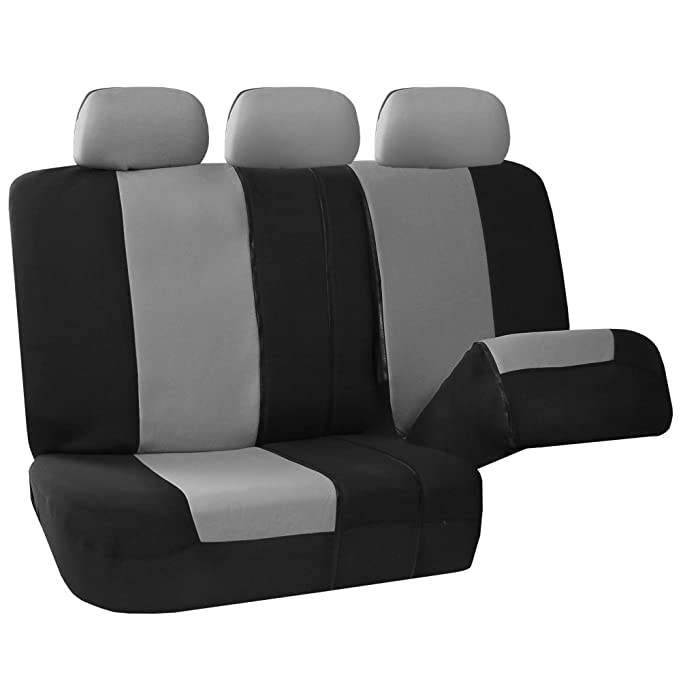 Amazon FH GROUP FB051115 Multifunctional Flat Cloth Seat Covers Airbag Compatible And Split W FH1133 E Z Travel Car Tissue Dispenser Case