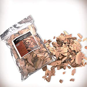 Ruby Lil 1.10Lb/500G Smoking Wood Chunks,Pecan Wood Chips for Smoker,BBQ Cooking Chunks for All Smokers Kiln Dried,Apple
