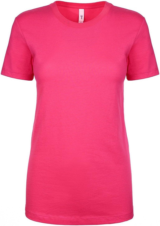2XL Next Level Apparel Womens Crewneck Short Sleeve T-Shirt RASPBERRY