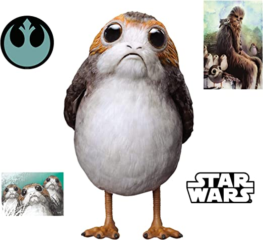 Amazon Com Fathead Porg Star Wars The Last Jedi Large Officially Licensed Removable Wall Decal Home Kitchen