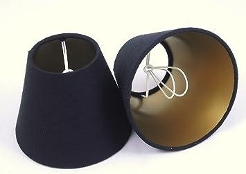 2 Pantalla para lámpara de mesa hecha a mano pequeña - Lino ...