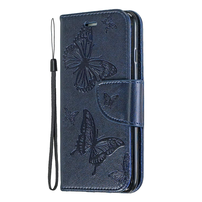 Miagon f/ür Samsung Galaxy A50 Leder H/ülle,Pr/ägung Schmetterling Muster Kunstleder Magnetverschluss Standfunktion Kartenf/ächer Flip Schutzh/ülle Brieftasche