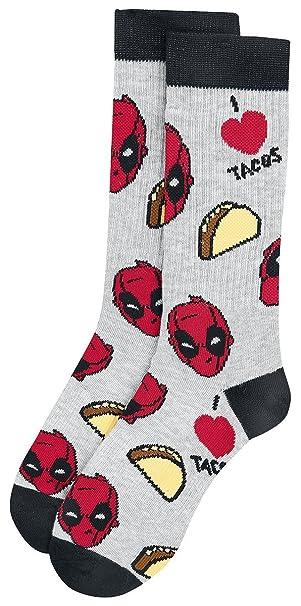 Deadpool I Love Tacos Calcetines Negro/Rojo/Gris uJHO3