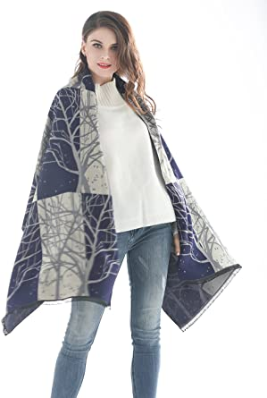 Girls Scarf Tasseled Patterned Long Cozy for Cold Weather