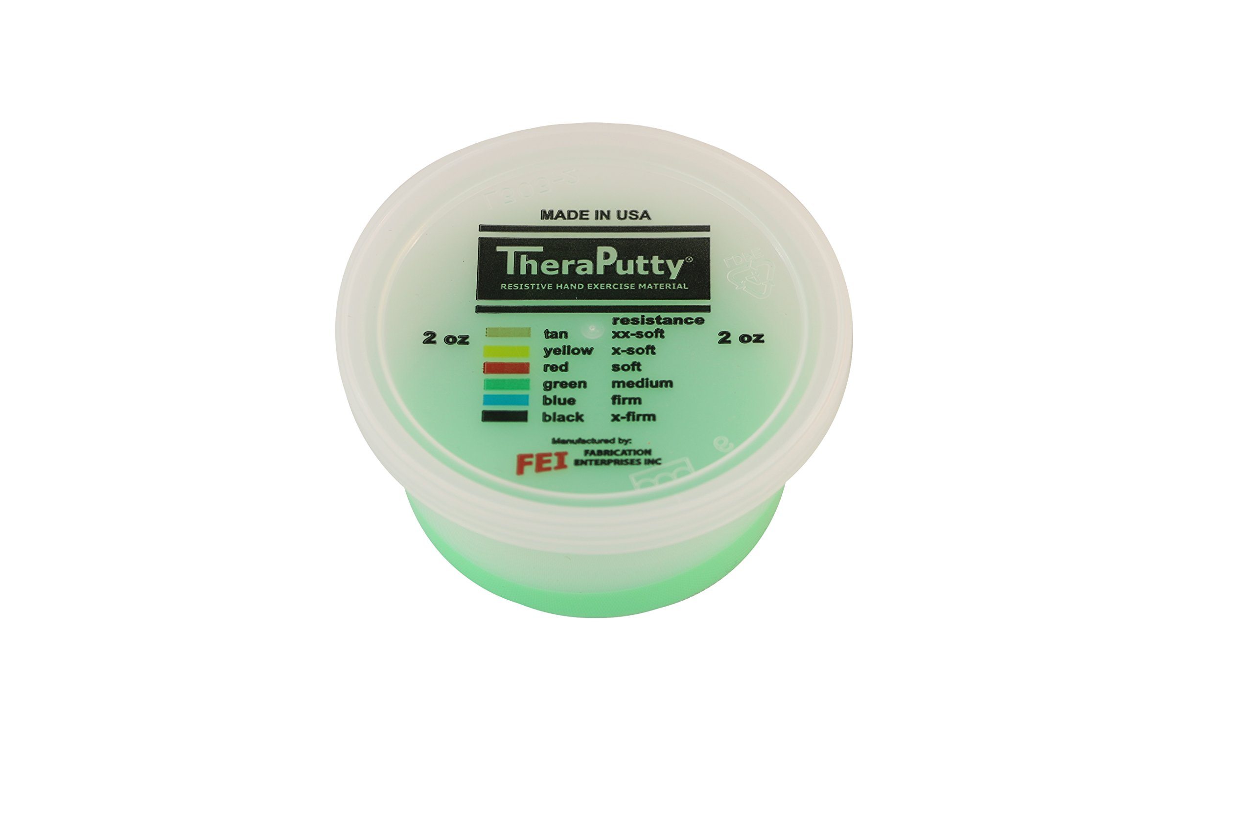 CanDo TheraPutty Scented Exercise Putty, Green: Apple, Medium, 2 oz by Cando