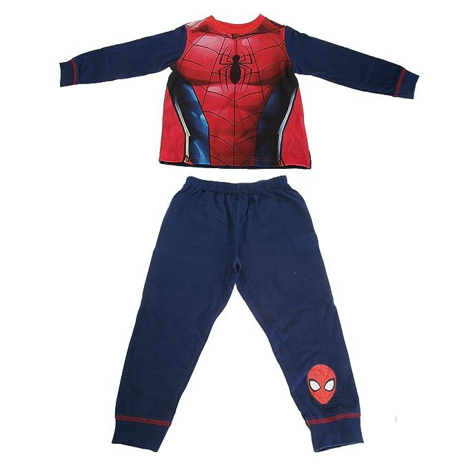 Marvel - Pijama de Spiderman para niño (2/3 años/Rojo/ Azul