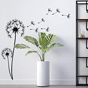 DEKADRON Metal Wall Art, Pusteblume with Flying Seeds, Metal Nature Decor, Patel with Dandelion Wall Hanging, Home Living Room Wall Art (12'' W X 29'' H 31x75cm)